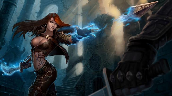 katarina throwing dagger league of legends game