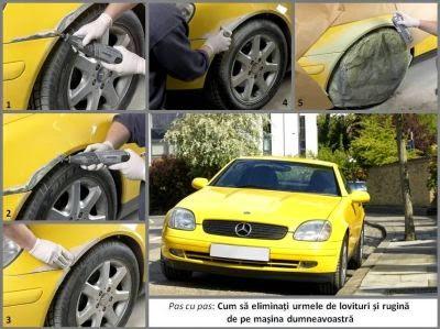 Cum sa eliminati urmele de lovituri si rugina de pe masina dumneavoastra