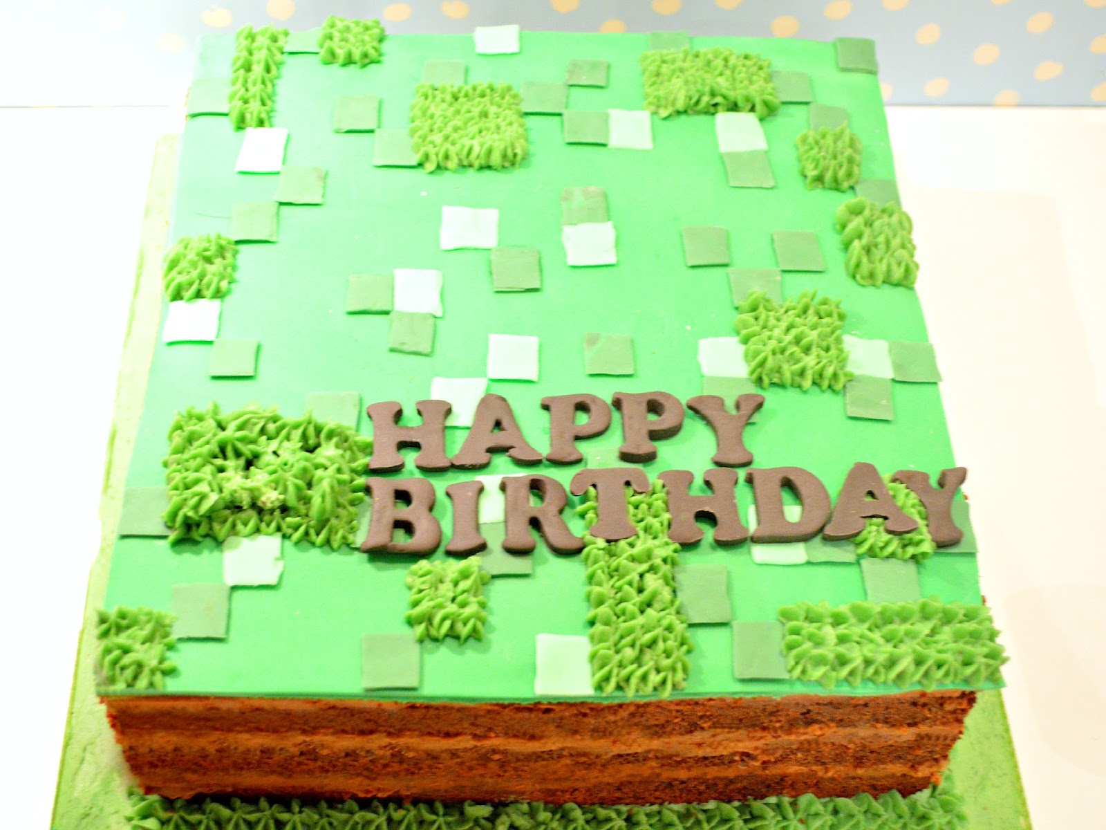 Cherie Kelly's Minecraft Cake
