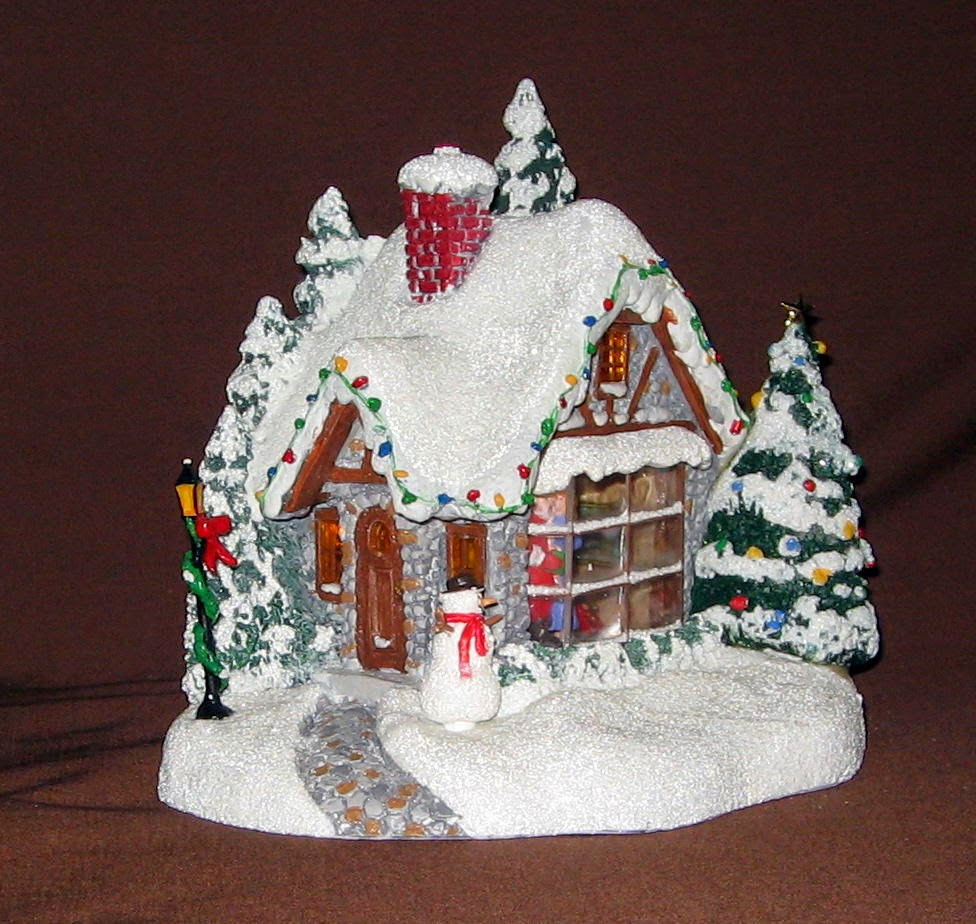 2014 Thomas Kinkade Kiss for Santa Cottage