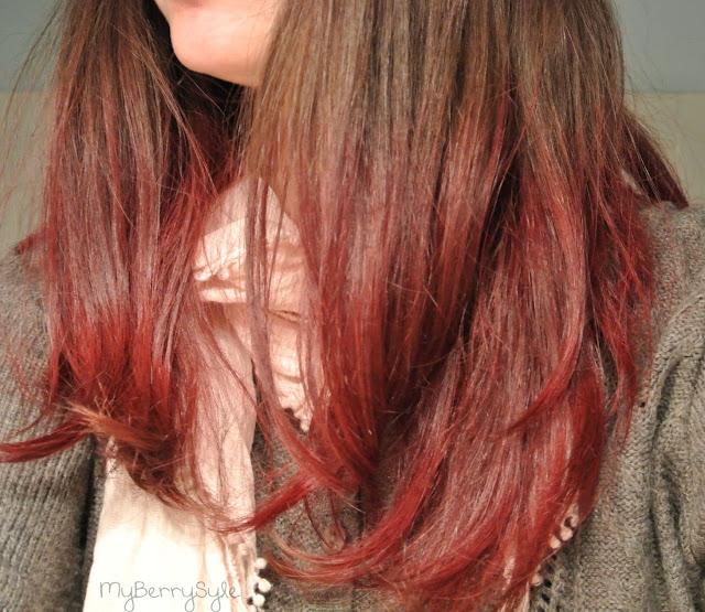 Tie and dye rouge sur mes cheveux chatain fonc avec crazy color myberrystyle blog beaut - Tie and dye sur cheveux chatain ...