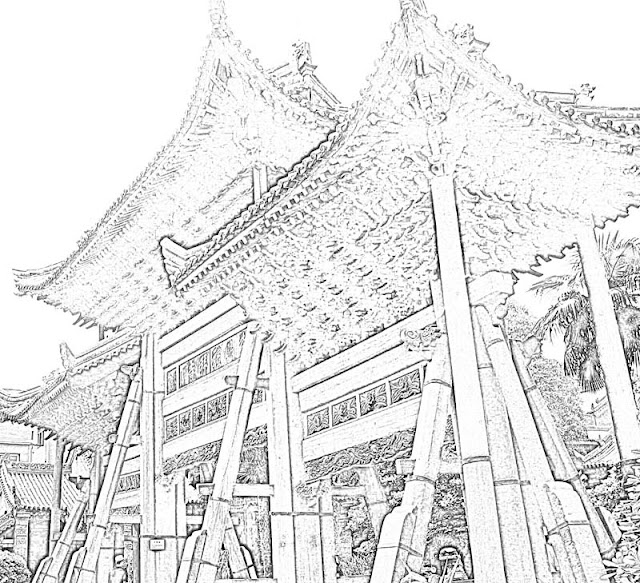 sketch of mosque arch chinese style