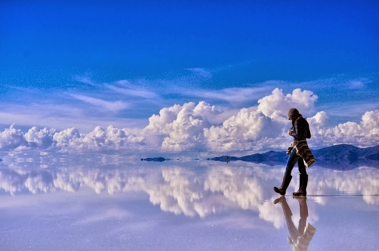 Reflective salt flats in Bolivia - 15 Things You Won't Believe Actually Exist In Nature