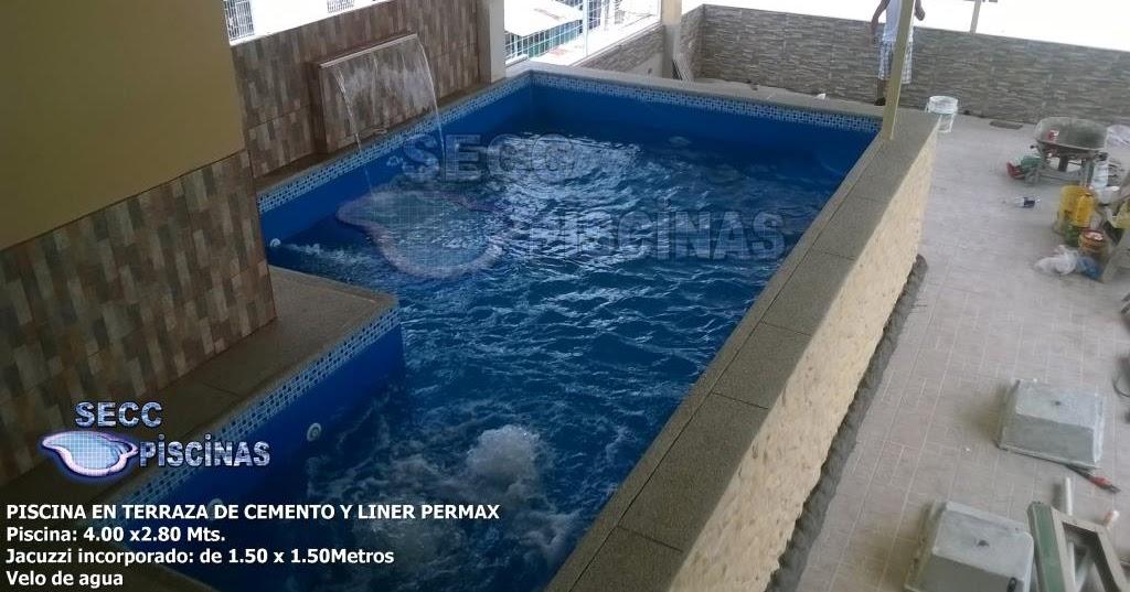 Secc piscinas piscinas en terraza for Construccion de piscinas en ecuador