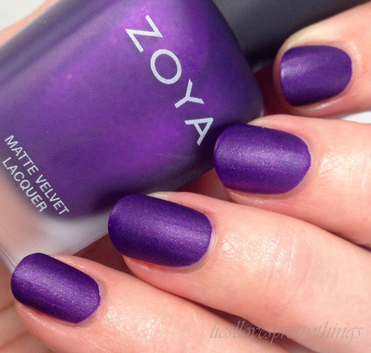 Zoya  Savita Matte Velvets swatch and review