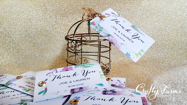 Birdcage Wedding Favour Packaging with Floral Thank You Tag Kuala Lumpur, Malaysia