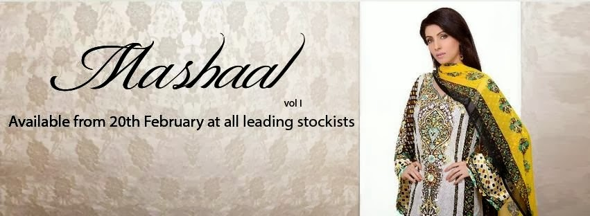 Mashaal Lawn Collection for Womens