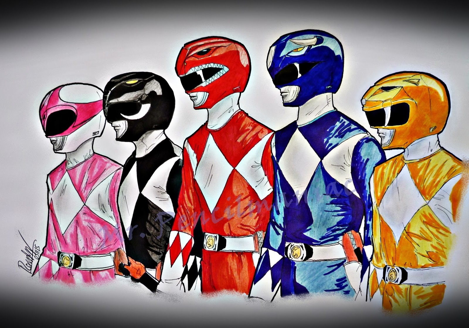 Go, go, Power Rangers! | Mr. Pencilmaniac