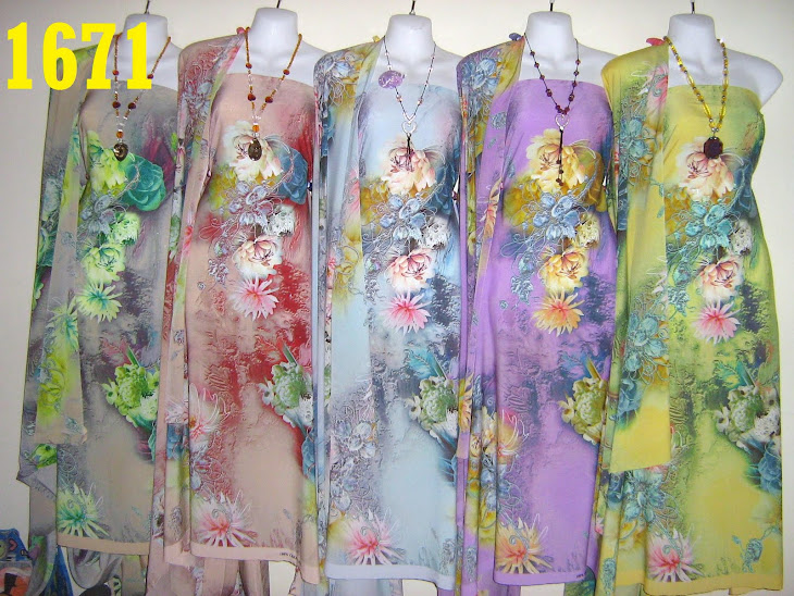 CS 1671: 100% CREPE SILK ITALIAN, 4 METER, EXCLUSIVE DESIGN, SEJUK DAN SGT CANTIK, 5 COLORS