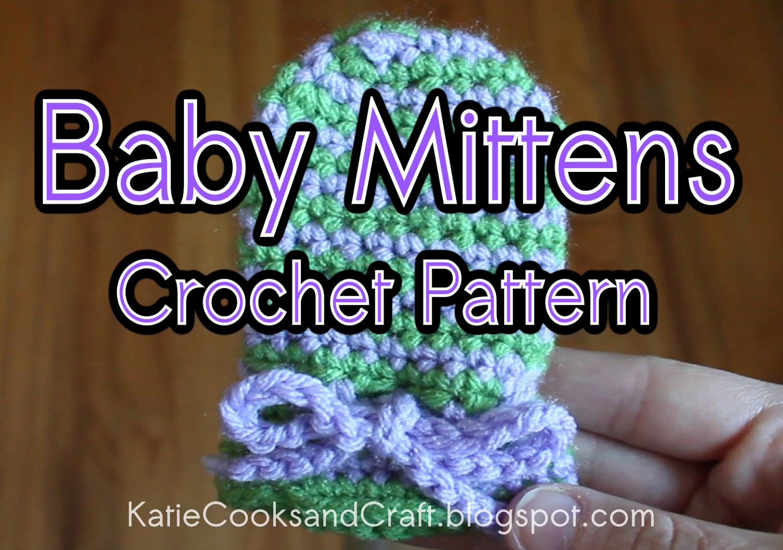 Katie cooks and crafts spiral baby mittens these mittens are great for cold weather or for no scratch mittens this pattern uses us crochet bankloansurffo Images