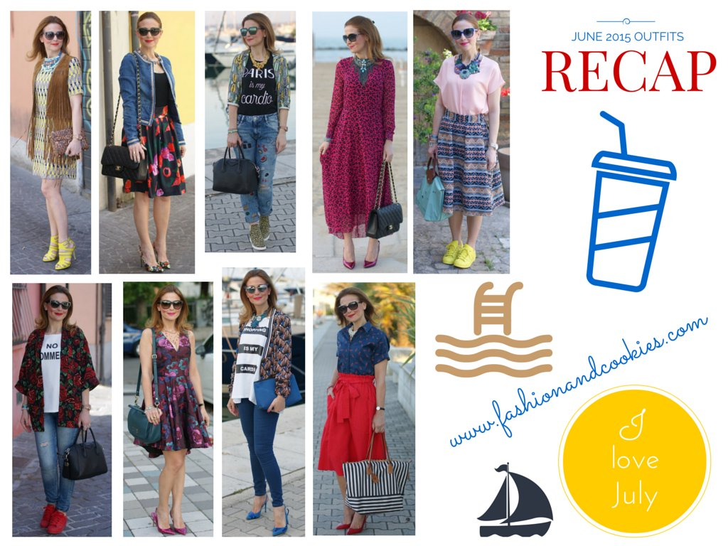 Welcome July, Fashion blogger outfits recap from June 2015 on Fashion and Cookies fashion blog