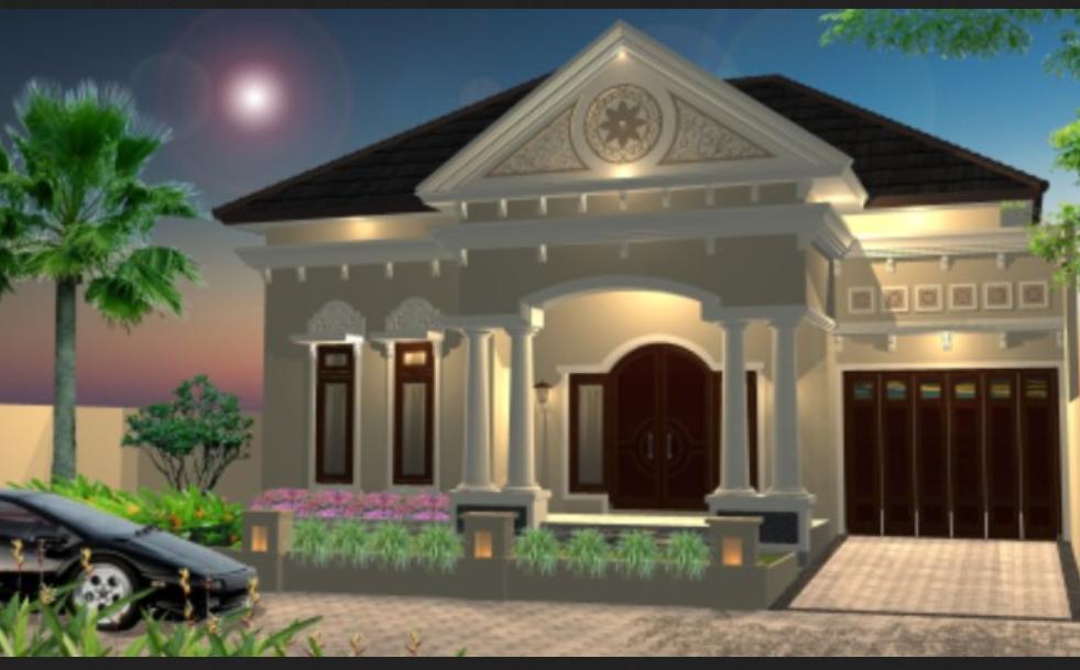 desain rumah mewah minimalis modern satu lantai