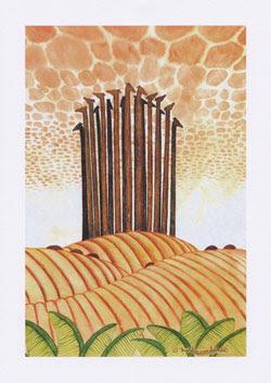 Giraffe Greeting Cards by UK Artist Ingrid Sylvestre - Awakening