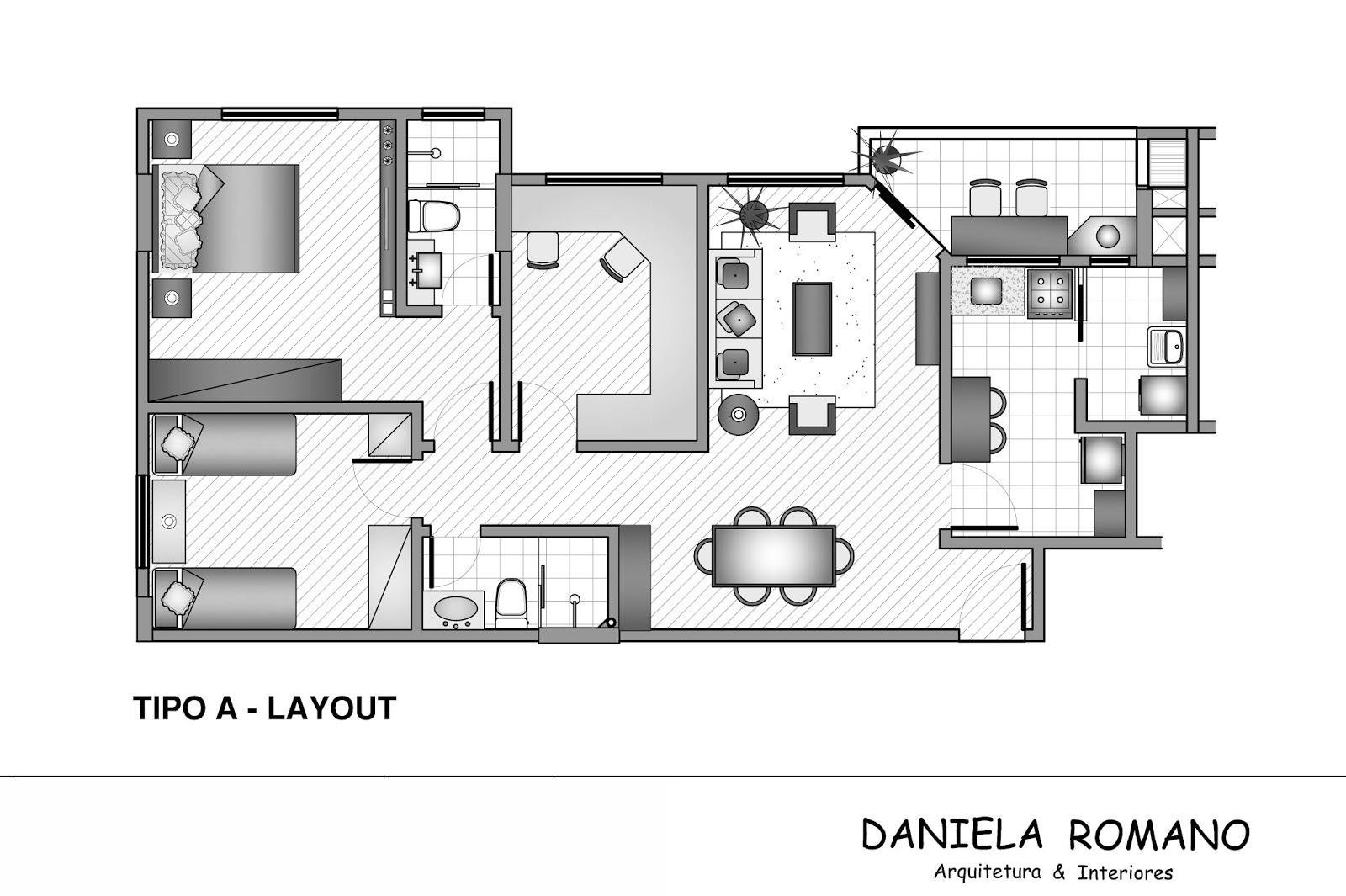 Cozinha Layout Layout Do Apartamento Com Os Mveis Na Visualizao