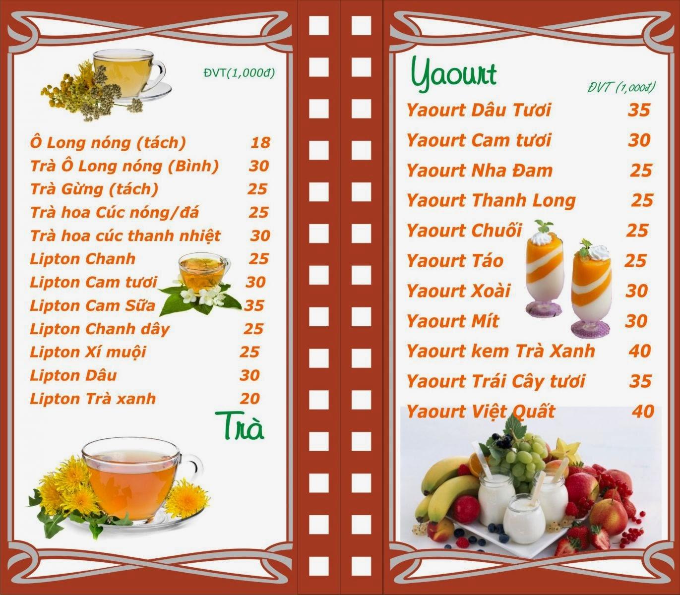 In menu p n t ng thu h t c i nh n c a kh ch thi p for Como crear un restaurante