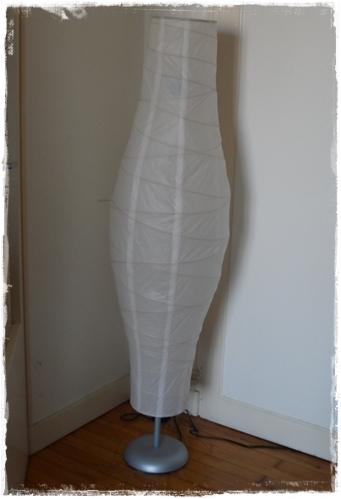 Diy r parer une lampe d chir e crazy addict - Lampadaire papier ikea ...