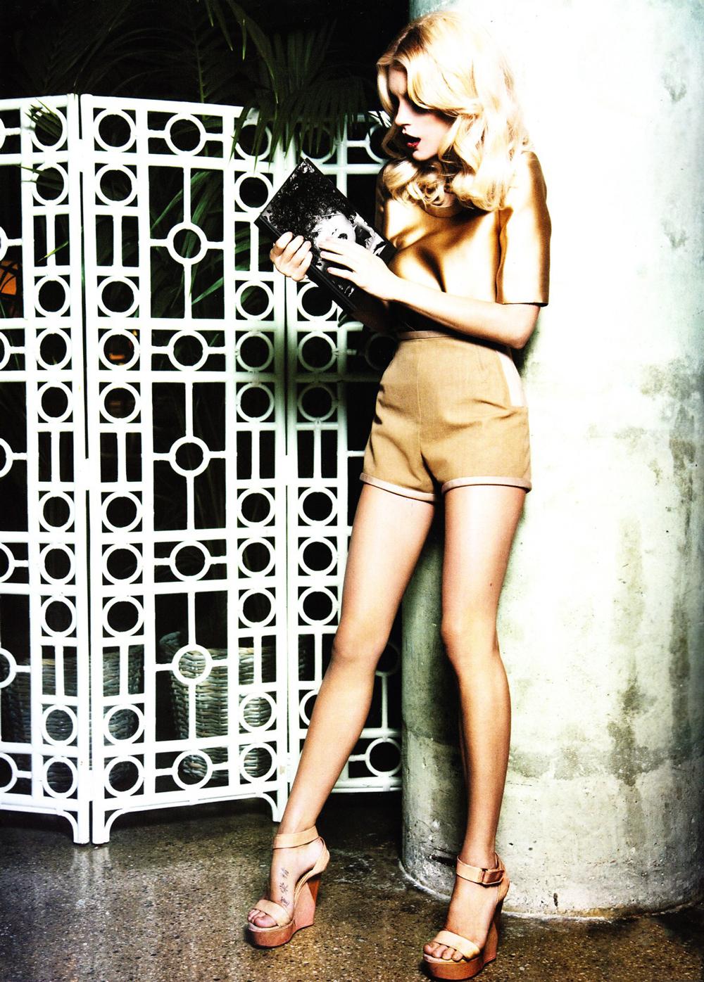 Jessica Stam in Lanvin by Alber Elbaz in Dangerous Liaisons / Vogue China January 2011 (photography: Ellen von Unwerth, styling: Anne Christensen) via www.fashionedbylove.co.uk