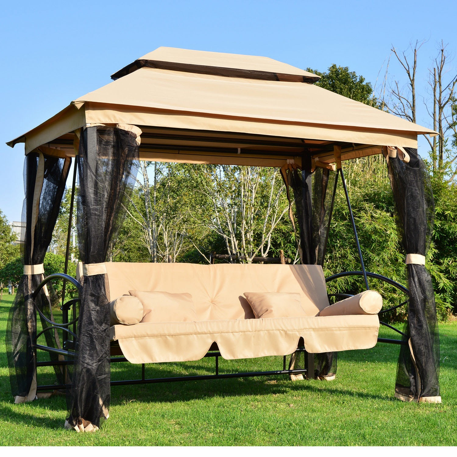 deluxe patio swing with canopy is a part of patio canopy swings