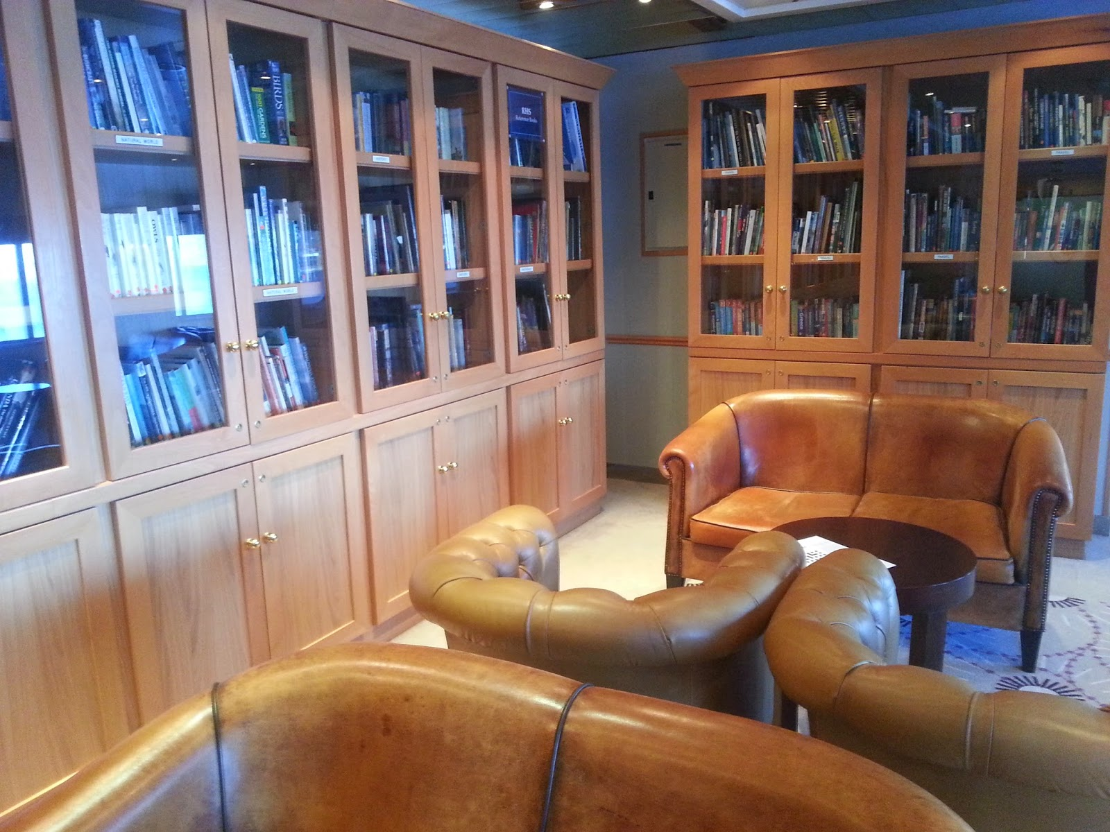On Board Voyages of Discovery's Cruise Ship MV Voyager - Library