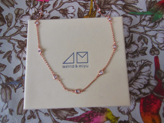 Astrid and Miyu secret box contents December rose gold necklace