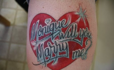 Tattooed Marriage Proposal Seen On www.coolpicturegallery.us