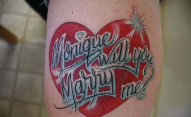 Tattoo Marriage Proposal