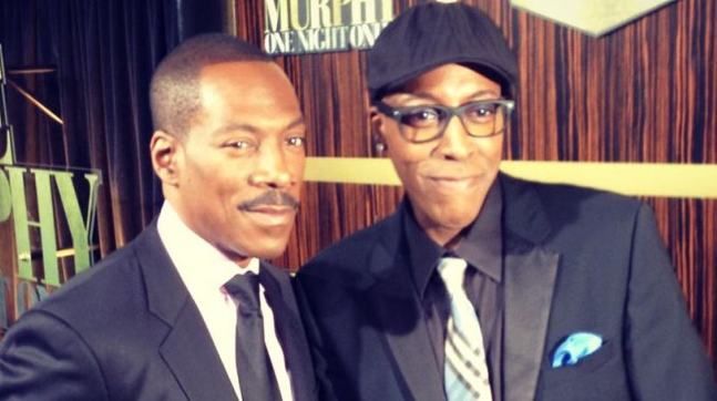 Photo of Arsenio Hall & his friend actor   Eddie Murphy - Los Angeles