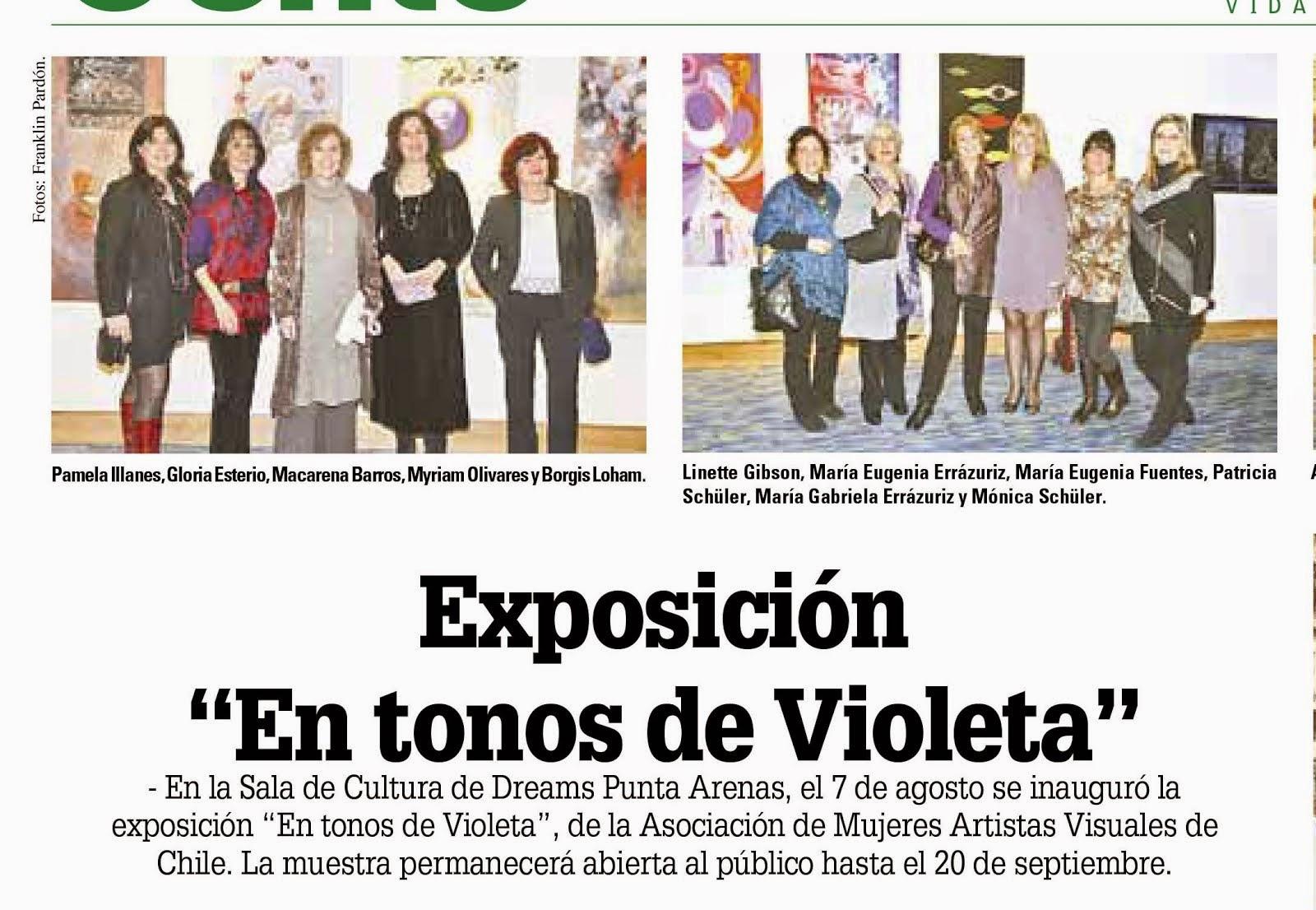 Prensa En Tonos de Violeta