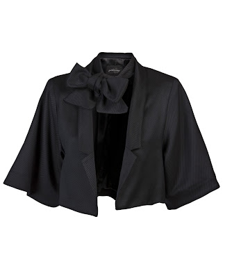 Cropped Tie Neck Jacket