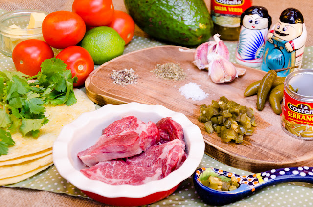 ingredients for beef taquitos with La Costena sauces