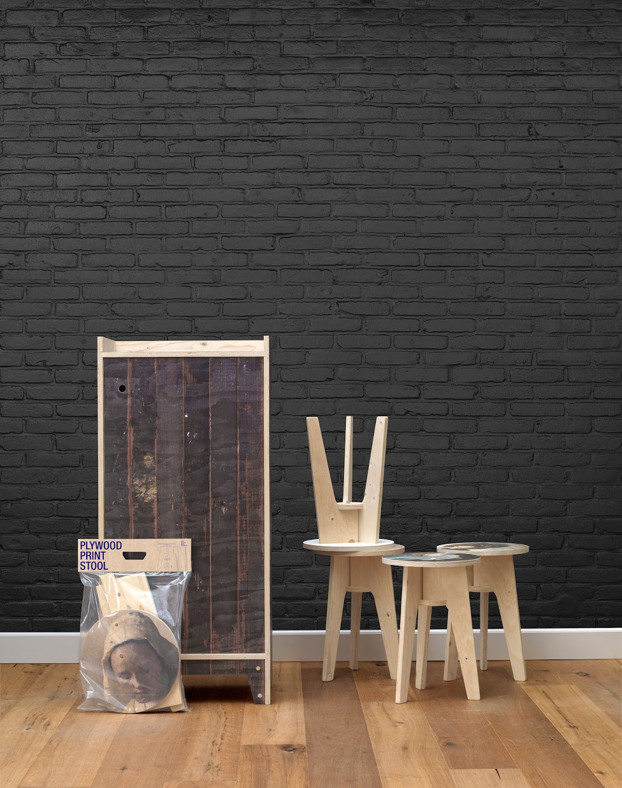 NLXL, Black Brick Wallpaper, Piet Hein Eek