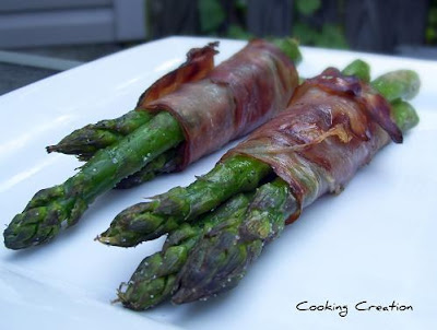 grilled prosciutto wrapped asparagus salmon with shaved asparagus in ...