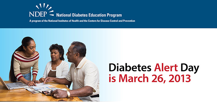 coprevent diabetes alert day is march 26