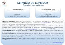 COMUNICADO IMPORTANTE DEL COMEDOR