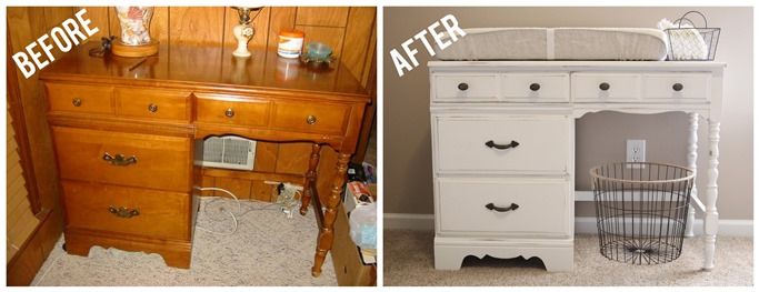 desk to changing table 2
