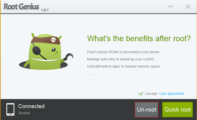 Berikut daftar perangkat yang berhasil root menggunakan Root Genius :