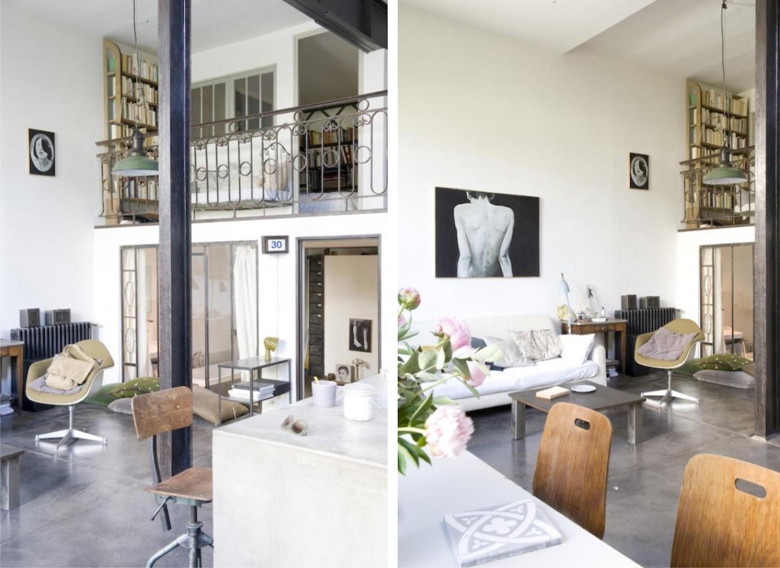 Interior di logo entre el vintage y lo industrial mini loft virlova style - Huis loft ...