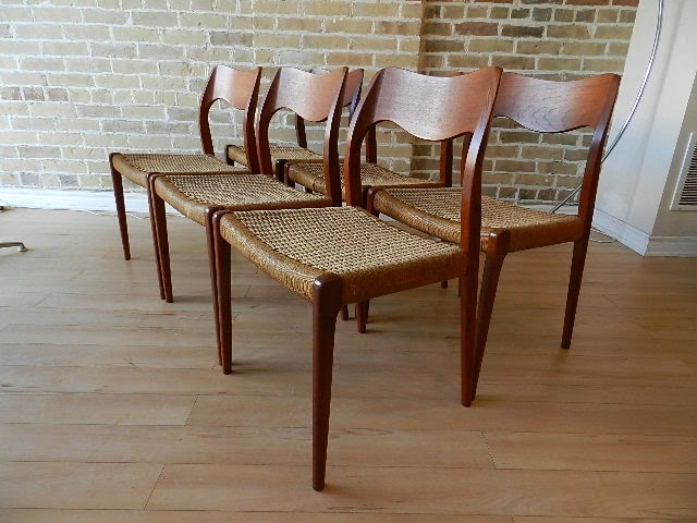 zig zag niels moller dining chairs sold