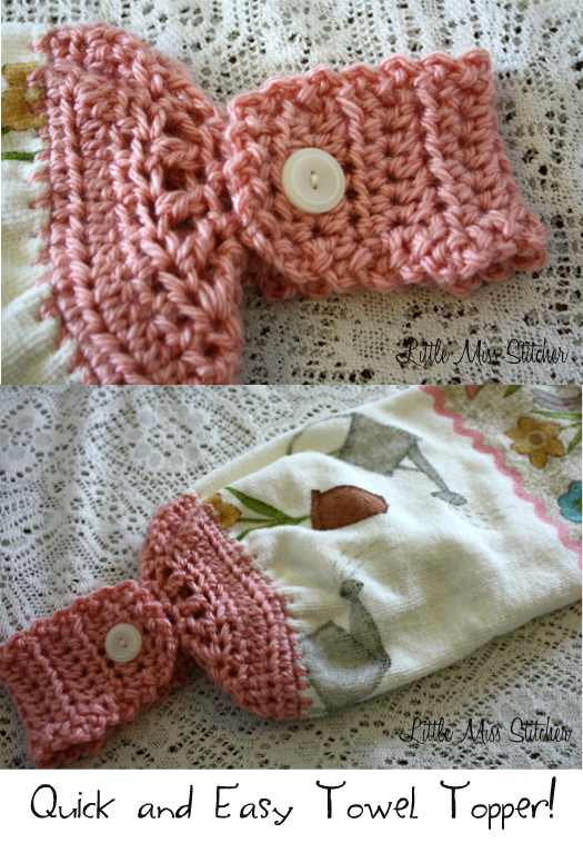 Crochet Patterns Free Towel Toppers : Little Miss Stitcher: Quick and Easy Crochet Towel Topper ...