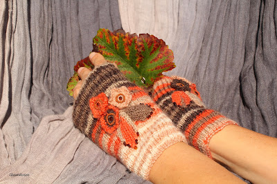 gunadesign Fingerless Gloves Autumn Colors
