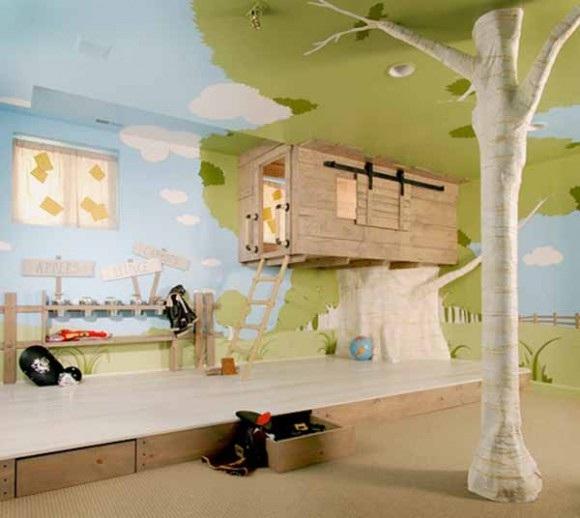 casa árbol habitación niños