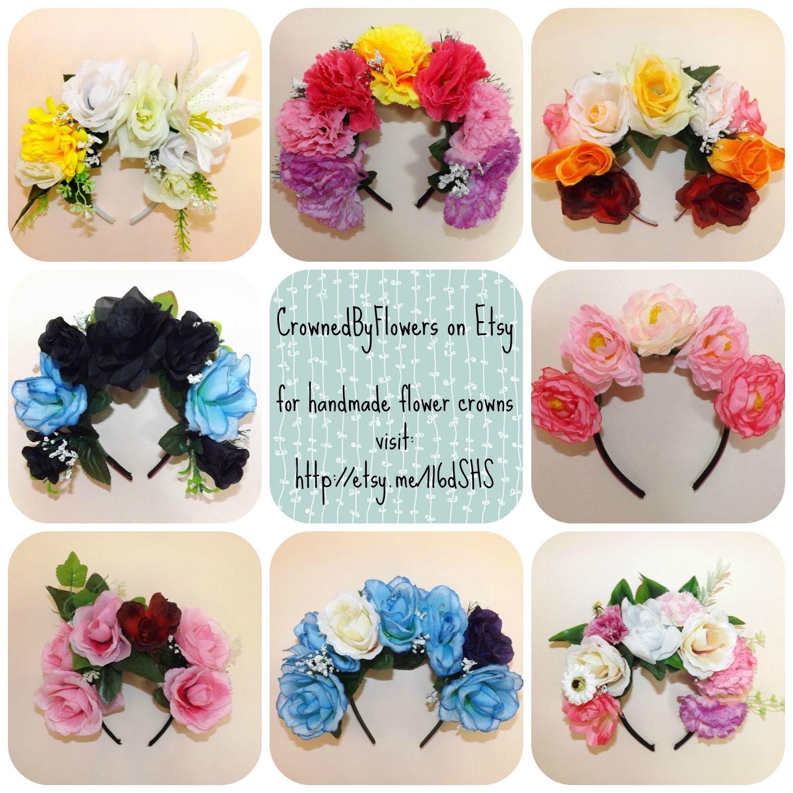 My Flower Crown Etsy Shop Crownedbyflowers Is Now On Facebook