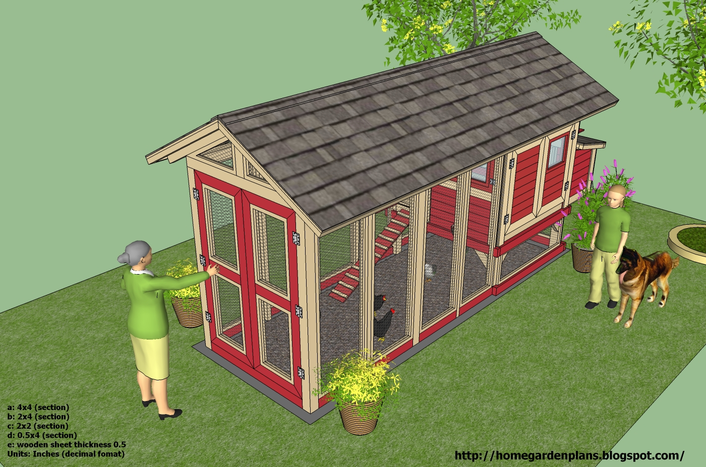 Home Garden Plans M102 Chicken Coop Plans How To