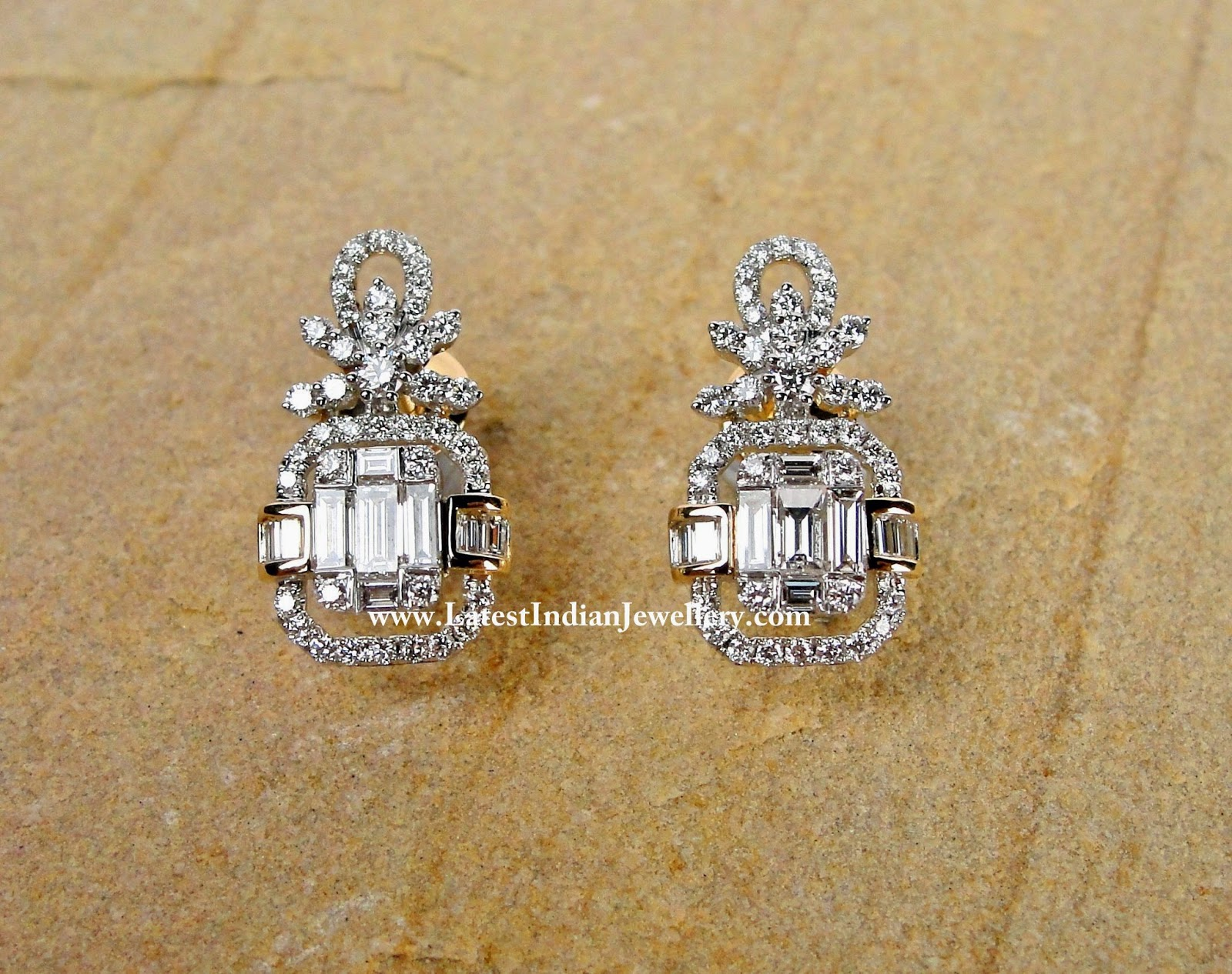 Baguette Diamond Ear Studs
