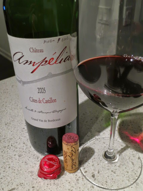 Wine Review of 2005 Château Ampélia from AC Côtes de Castillon, Bordeaux, France