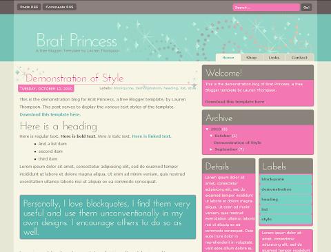 Brat Princess Press Blogger Theme