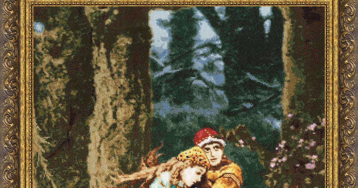Вышивка иван царевич и серый волк 16