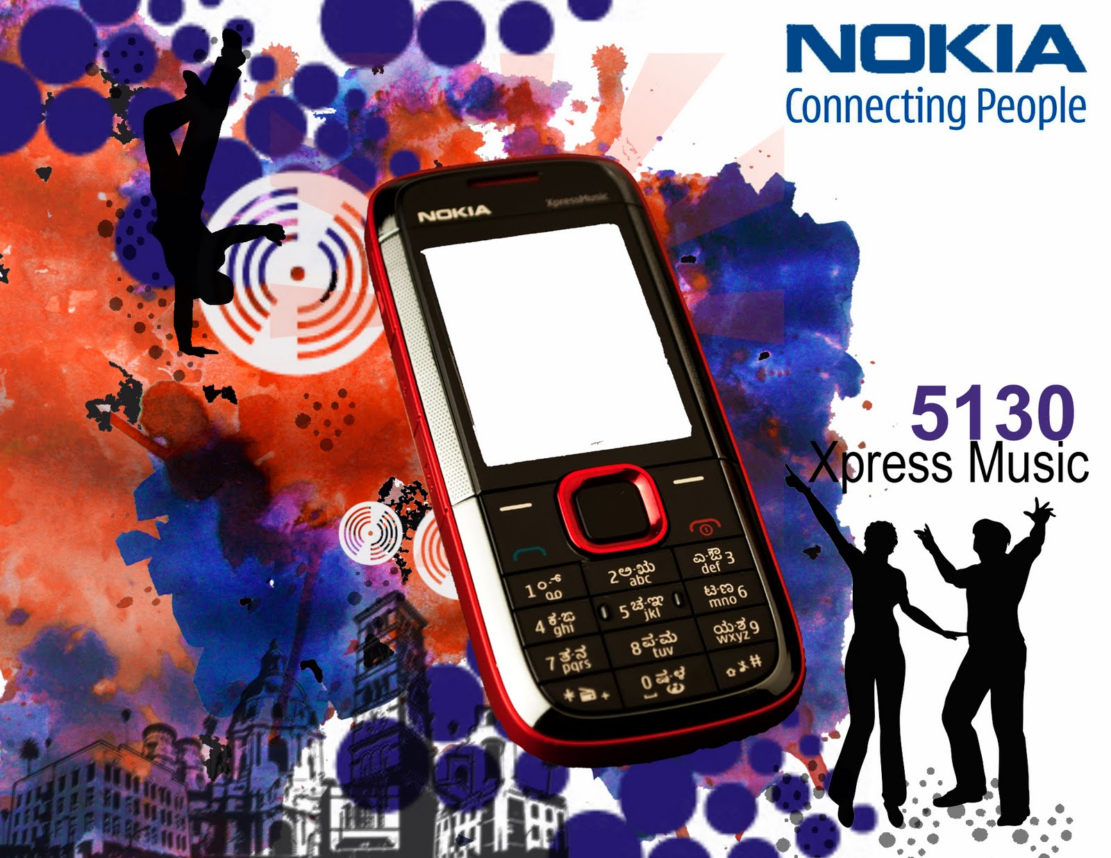 An ad made for a college project for Nokia Expressmusic phone, the ad ...