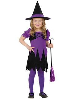 Halloween Kostume i sort og lilla