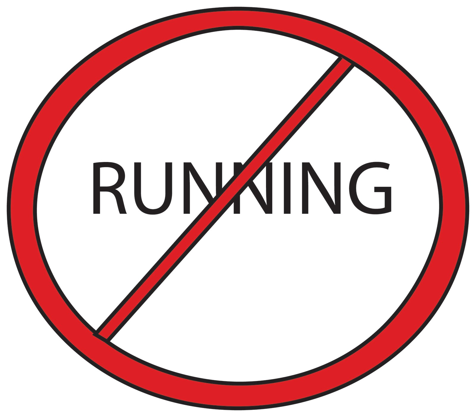 Tuesday  March 1  2011No Running Cartoon